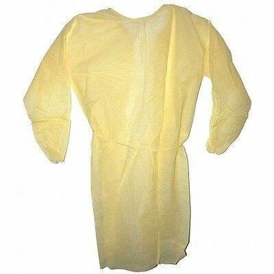 Yellow Disposable Protective Coverall , Disposable Patient Exam Gowns Reliable