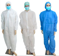 Lightweight Disposable Isolation Gowns , Surgical Waterproof Disposable Coveralls