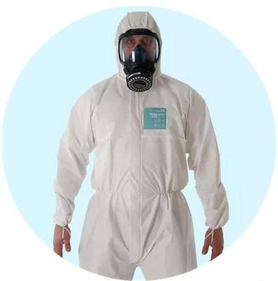 S - XXL Breathable Disposable Coveralls , Eco Friendly Disposable Theatre Gowns