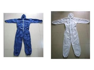 Non Toxic Breathable Disposable Coveralls , Reliable Disposable Body Suit
