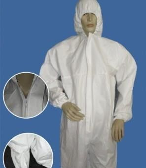Waterproof Disposable Protective Coveralls , Surgical Supplies Hospital Isolation Gowns
