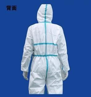 Fluid Resistant Disposable Isolation Gowns , Disposable Hooded Coveralls 35 - 60GSM