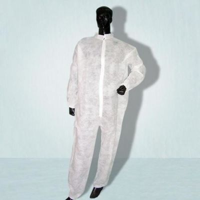 Anti Virus PP / SMS Disposable Protective Suit Long Sleeves Uniformed Material