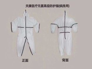Comfortable Polypropylene Disposable Coveralls , Durable Medical Isolation Suit