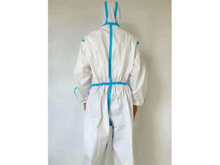 Safe 165cm - 185cm Disposable Protective Suit Water Resistant With Blue Tape