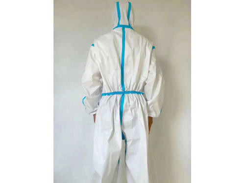 Safety XS - XXL Disposable Protective Suit Jumpsuit Structure For Outpatientclinics