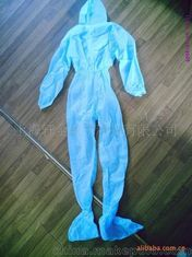 Non Toxic Disposable Protective Suit Anti Particles Non Woven Material