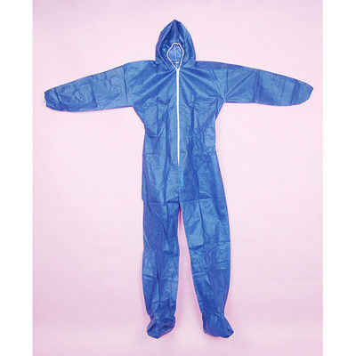 Dust Isolation Disposable Coverall Suit , Blue Protective Work Clothing