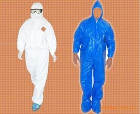 165cm - 185cm Disposable Protective Suit Customer Color Water Resistant