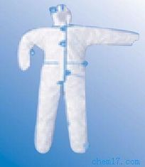 PP / SMS Disposable Protective Suit Water Resistant For Manufacturing