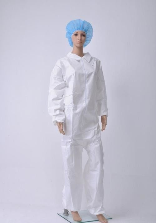S - XXL Non Woven Isolation Gown , Surgical Full Body Disposable Coveralls supplier