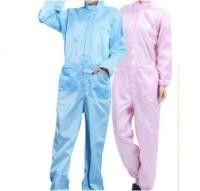 Particle Proof Disposable Protective Suit , One Piece Pink / Blue Disposable Coveralls supplier