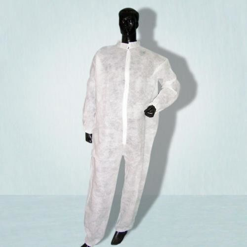Anti Virus PP / SMS Disposable Protective Suit Long Sleeves Uniformed Material supplier
